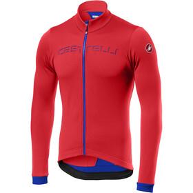 Castelli Fondo Maillot à manches longues avec zip Homme, fiery red/rescue blue